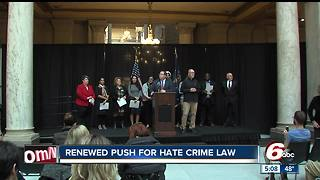 Indiana groups continue to push for Indiana hate crime law - Video