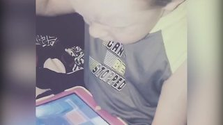 Little Boy Loses iPad Game and Falls - Video