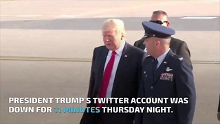Trump's Twitter deactivated by employee on last day of work - Video