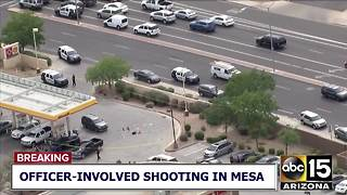 Mesa police involved in shooting outside Circle K - Video