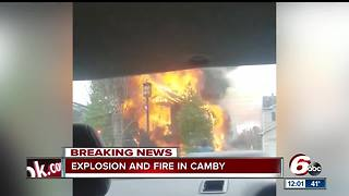 House fire in Camby was caused by a gas leak, chief says - Video