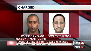 Accused Rapist Charged - Video
