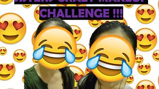 Sister Makeup Challenge GONE HORRIBLY WRONG!!! [FIRST-TIMERS] - Video