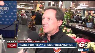 John Andretti presents $500,000 check in honor of Race For Riley - Video