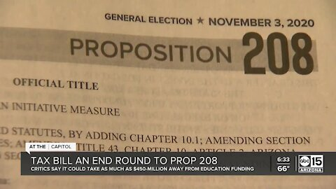 State Senate to vote on bill that could impact how much money Prop 208 raises for public education