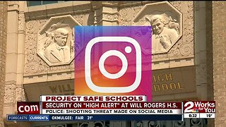 Security on high alert today at Will Rogers High after social media threat