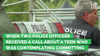 Two Cops Step In After Discovering Blind Teen Was Threatening Suicide over Bullying