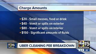 Uber customers claim cleaning fees are bogus - Video