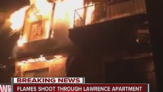 Lawrence apartment complex damaged by fire - Video