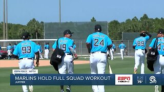 Miami Marlins first full squad workout of 2020