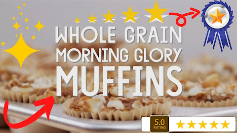 Whole Grain Morning Glory Muffins - Fun, Easy and Delicious Muffins