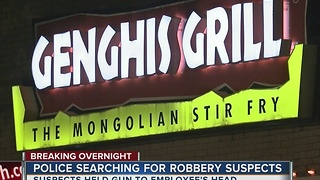 Tulsa Police search for three suspects after overnight robbery - Video