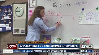 High School students can apply for paid summer internships