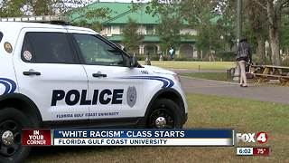 "Security beefed up for first day of FGCU ""White Racism"" class"