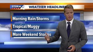 Rain moves out Thursday morning - Video