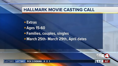 Extras needed for Hallmark movie being filmed in Tampa Bay area