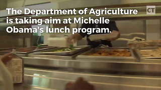 USDA Rolls Back Michelle's School Lunches - Video
