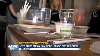 Del Mar City Council to discuss issues including possible straw ban