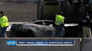 Car burned in Racine County freeway crash belonged to murdered Illinois woman - Video