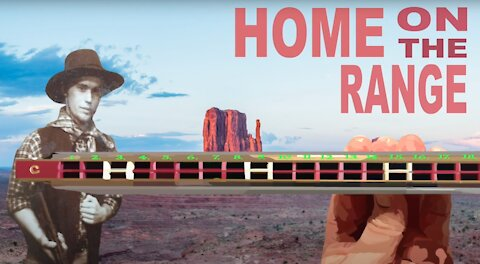 How to Play Home on the Range on a Tremolo Harmonica With 24 Holes