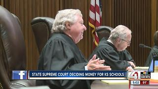 KS Supreme Court deciding money for state schools - Video