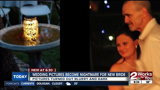 Wedding pictures become nightmare for new bride