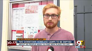 City takes action on Downtown homeless camp - Video