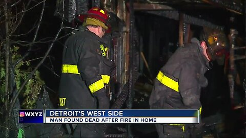 Elderly man dies after fire rips through Detroit home