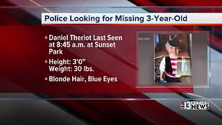Desperate search for missing 3-year-old boy