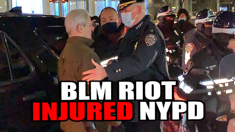 BLM Riot leaves 2 NYPD cops Injured!