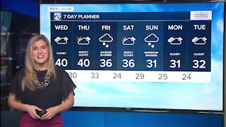 Today's Forecast: Mostly cloudy with some evening light rain showers possible