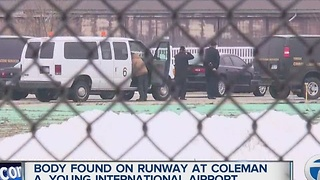 Body found on runway at Coleman A. Young International airport - Video