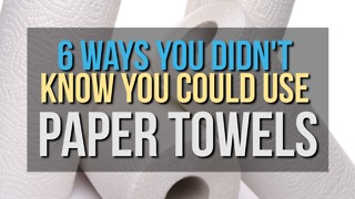 6 Ways You Didn't Know You Could Use Paper Towels - Video