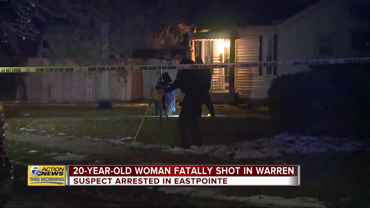 Woman, 20, shot and killed at home in Warren