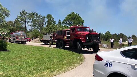 Raw video: Brush fire near Cape Coral on Friday