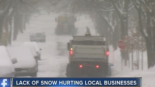 It's slow business for the snow business - Video