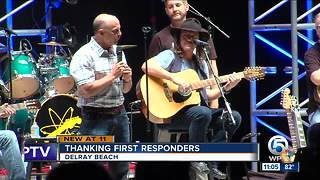 Delray Beach thanks Hurricane Irma first responders with free concert and food - Video
