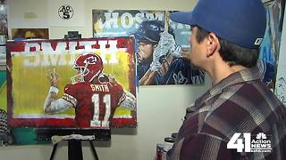 Local painter getting praise from KC's superstar athletes_1 - Video