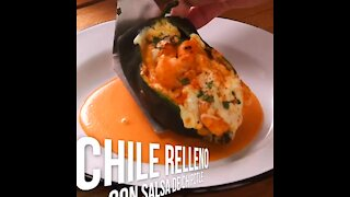 Chile Stuffed with Chipotle Sauce