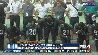 Four In Your Corner viewers share their take on NFL kneeling protests - Video