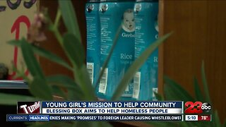 Local 9-year-old girl creates blessing box to help homeless people