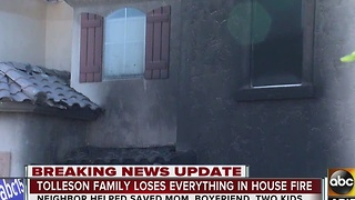Valley family loses everything in fire