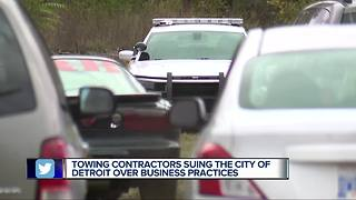 Towing contractors suing Detroit over business practices