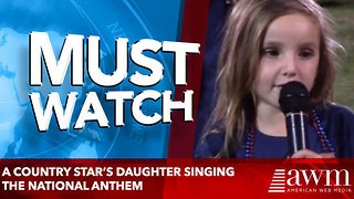 A country star's daughter singing the national anthem