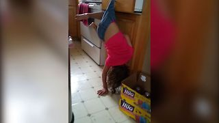 Upside Down Girl Denies Everything - Video