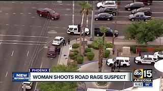 Police: Woman was defending herself in road rage shooting - Video