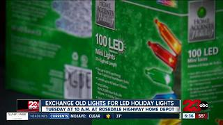 Trade indoor holiday lights for free LED lights - Video