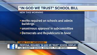 Florida schools could be forced to display 'In God we trust' - Video