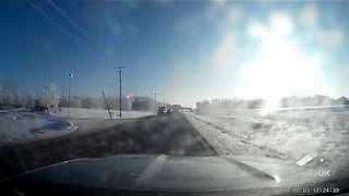 Dashcam of Trucker vs Overhead electrical cable - Video