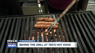 Learning the tricks of the grill at Ted's Hot Dogs - Video